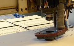 Bearbetning av skivmaterial i till exempel plast, aluminium, koppar och trä.