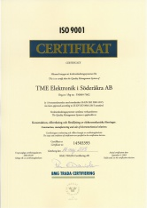 Nya certifikat enligt ISO 9001:2015 och ISO 14001:2015